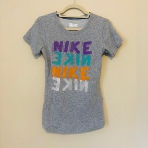 Nike Grey Small SS Top H19